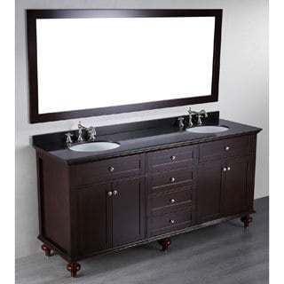 Bosconi Contemporary 73-inch Double Vanity