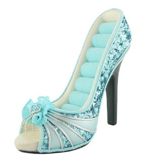 Jacki Design Girlie Glam Peep-toe Shoe Ring Holder