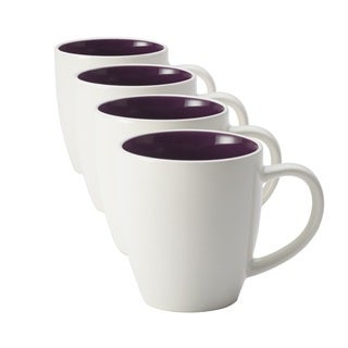 Rachael Ray 'Rise' Purple 4-piece Stoneware Mug Set