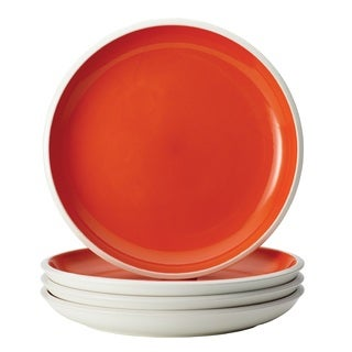 Rachael Ray Dinnerware 'Rise' Orange 4-piece Stoneware Dinner Plate Set