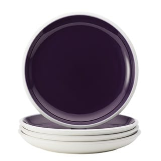 Rachael Ray Dinnerware 'Rise' Purple 4-piece Stoneware Dinner Plate Set