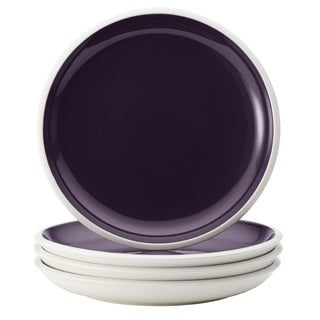 Rachael Ray Dinnerware Rise Purple 4-Piece Stoneware Salad Plate Set