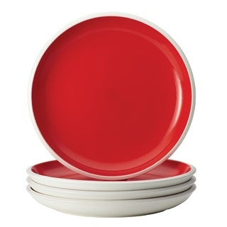 Rachael Ray Dinnerware 'Rise' 4-Piece Stoneware Dinner Plate Set, Red