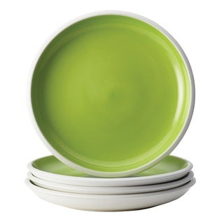 Rachael Ray Dinnerware Rise Green 4-Piece Stoneware Salad Plate Set