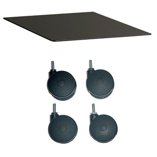 Mayline Black Mobile Kit for 17.5-inch Pedestal