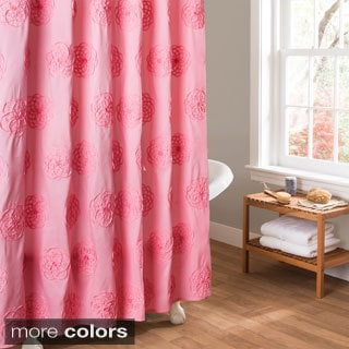 Lush Decor Samantha Embroidered Shower Curtain
