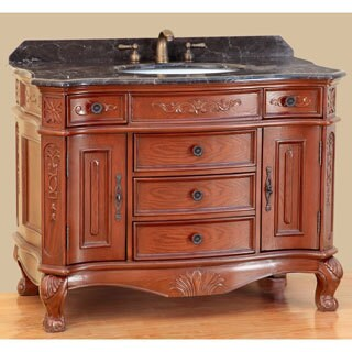 Bosconi T-3804 43-inch Classic Single-sink Bathroom Vanity