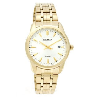 Seiko Men's Gold-Tone Stainless Steel Watch