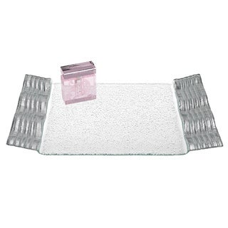 Silver Wave Rectangular Tray (15-inches x 9-inches)