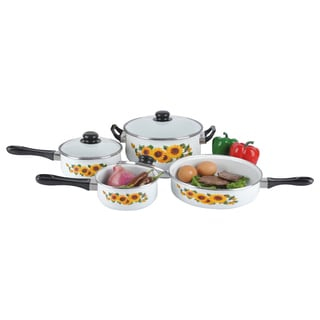 Sunflower 7-Piece Enamel Cookware Set