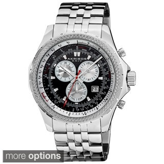 Akribos XXIV Men's Large Chronograph Stainless Steel Bracelet Watch