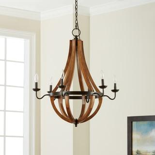 Vineyard Oil-rubbed Bronze 6-light Chandelier