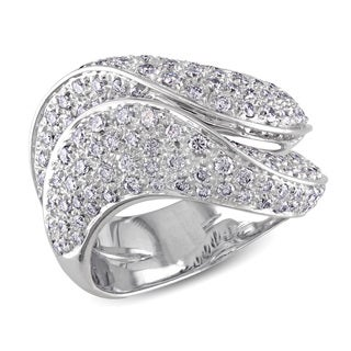 Miadora 18k White Gold 1 3/4ct TDW Diamond Ring (F-G, VS1-VS2)