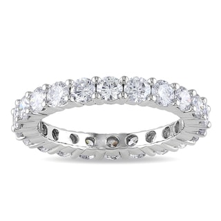 Miadora 18k White Gold 2ct TDW Diamond Eternity Ring (G-H, SI1-SI2)
