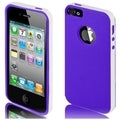 BasAcc White/ Purple TPU Case for Apple iPhone 5/ 5S