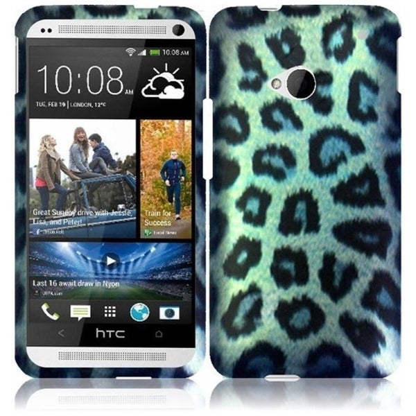 INSTEN Snow Leopard Phone Case Cover for HTC One M7