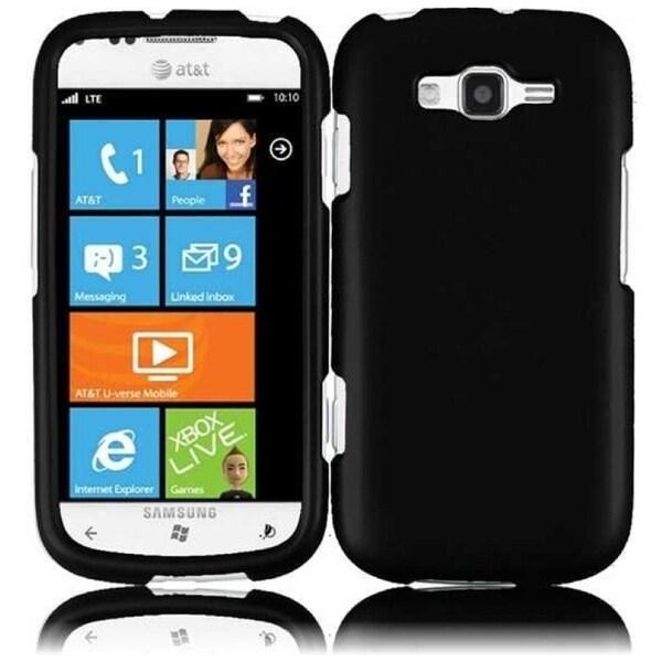 INSTEN Black Phone Case Cover for Samsung Focus 2 i667