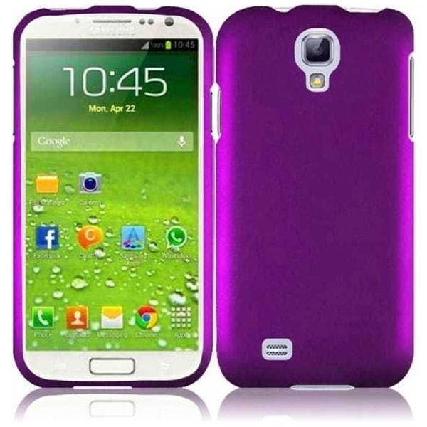 INSTEN Purple Rubberized Hard Plastic Snap-on Phone Case Cover for Samsung Galaxy S4 LTE/ S4