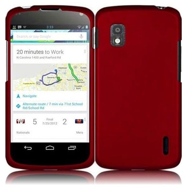 INSTEN Red Phone Case Cover for LG Nexus 4 E960