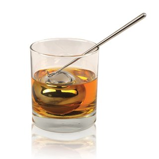 Soiree Tilt Twin Beverage Chilling Spheres with Garnishing Sticks