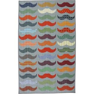 Mustache Light Multi Area Rug (5' x 8')