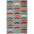 Mustache Light Multi Area Rug (5' x 8')