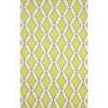 nuLOOM Flatweave Modern Trellis Lattice Yellow Wool Rug (7'6 x 9'6)
