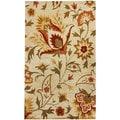 nuLOOM Handmade Bold Floral Ivory Wool Rug (8'3 x 11')