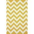 nuLOOM Flatweave Chevron Gold Wool Rug (7'6 x 9'6)