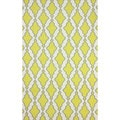 nuLOOM Flatweave Modern Trellis Lattice Yellow Wool Rug (5' x 8')