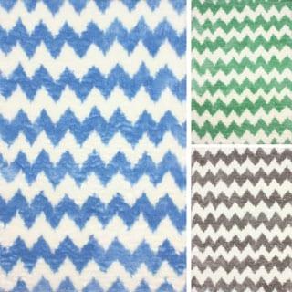 nuLOOM Modern Faux Sheepskin Chevron Shag Rug (7'6 x 9'6)