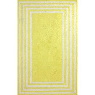 nuLOOM Stripe in Stripe Yellow Border Rug (5' x 8')
