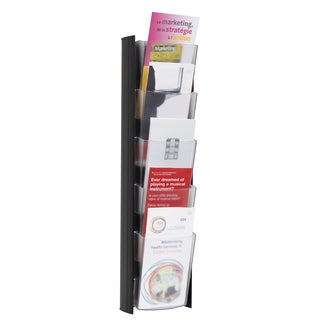 Alba 5-pocket Black Wall Document Display