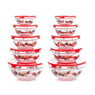 Chef Buddy 20 Piece Glass Bowl Set with Lids
