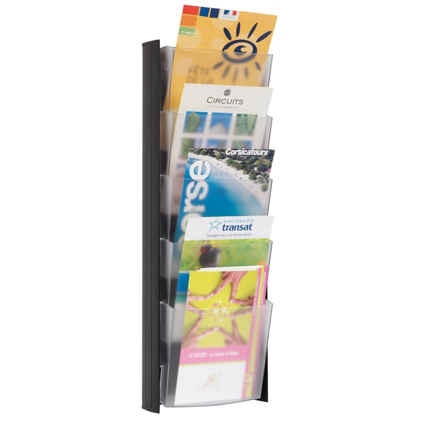 Alba 5-pocket Black A5 Wall Document Display