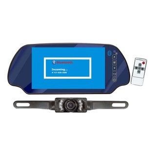 "Pyle PLCM7300BT 7"" TFT Mirror Monitor W/ Rear-View Night Vision Camera Built-In Bluetooth"