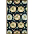 Detailed Flower Indoor Rug (8'X10')