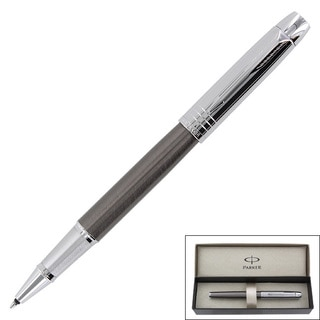 Parker IM Premium Custom Gun Metal Chrome CT Roller Ball Pen