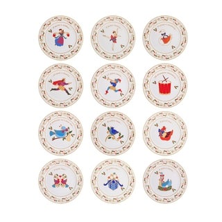 Mikasa '12 Days Of Christmas' Assorted 8-inch Round Porcelain Salad Plates
