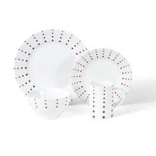 Mikasa 'Christmas Cheers Dots' Place Setting Porcelain (Set of 4)