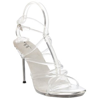 Ellie Women's '458-Sophica' Clear Strappy Heels