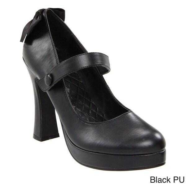 Ellie Womenaposs Apos425glendaapos Black Chunky Heel Mary Jane Pumps image