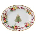 Royal Albert 13-inch Old Country Roses Christmas Tree Medium Platter
