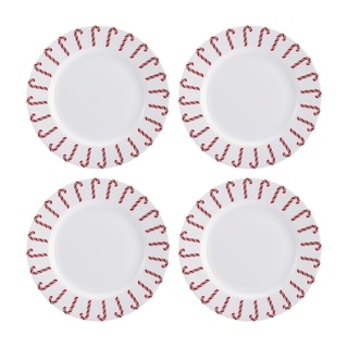 Mikasa Christmas Candy Cane 8.5-inch Accent Plates (Set of 4)