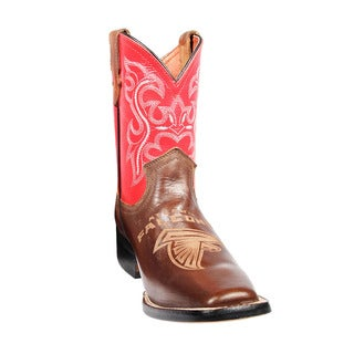 Kids Atlanta Falcons Western Leather Boots