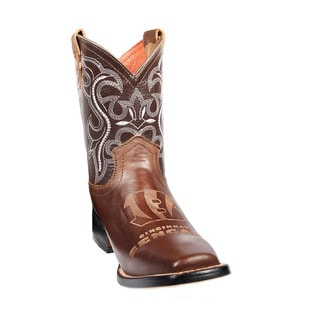 Kids Cincinnati Bengals Western Leather Boots