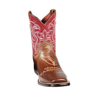 Kids Arizona Cardinals Western Leather Boots