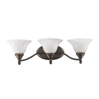 Transitional Bronze 3-light Bath Vanity
