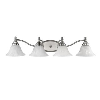 Transitional Brushed Nickel 4-light Bath/Vanity