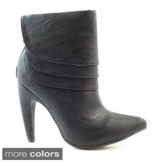 Women's Mid-heel Tiered Shaft Booties